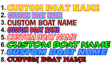 2 CUSTOM BOAT NAME DECAL STICKERS HULL ID REGISTRATION