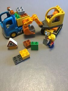 Lego Duplo 10812 Truck and Tracked Excavator 100% complete without box