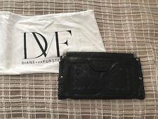 DVF Black leather clutch (Diane von Furstenberg)