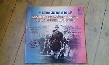 LP GATEFOLD DE GAULLE - 18 JUIN 1940 / GUERRE DES ONDES / excellent état