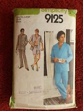 Simplicity 9125 Men's Pyjamas Size XL - CUT