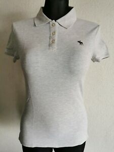 Abercrombie & Fitch girls cotton blend short sleeve grey polo shirt size XL
