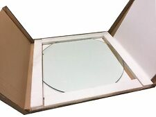 """24"""" Inch Dia. Round Tempered Glass Table Top 3/8"""" thick  Flat Polished Edge"""