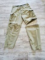 Used REI Men's Zip off Cargo Pants and Shorts Size 36 Army Green Pockets
