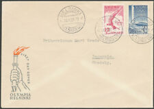 Finland 1951 FDC - Summer Olympic Games in Helsinki 1952 - Addressed