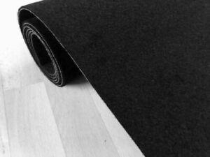 Autoteppich (8€/m²) schwarz Meterware Kofferraum Oldtimer Fußmatten