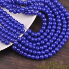 New 30pcs 8mm Round Glass Loose Spacer Beads Jewelry Findings Royal Blue