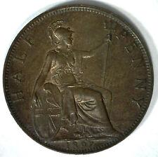 1897 Bronze Half Pence UK Half Penny Britain Coin UNC High Sea Level