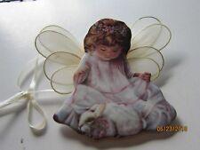 HEAVEN'S LITTLE ANGELS Bradford LOVING KINDNESS Angel W RABBIT Ornament #'d