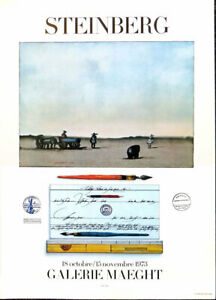 Saul Steinberg Crayon And Landscape Poster Print 16 x 11