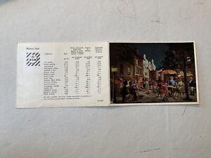 KLM Vintage Postcard Price List Beer Whisky Cigarettes Cafe Scene Cover 1950's