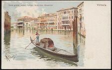 tarjeta postal VENECIA canal grandes,palacios:foscari,giustinian,rezzonico