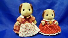 Epoch Dogs Figurines Calico Critters Sylvanian Families-Lot 2pc 1980s-1990s