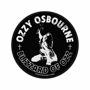 OZZY OSBOURNE BLIZZARD OF OZZ OFFICIAL LICENSED SEW ON PATCH BAND BADGE NEW