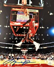 Michael Jordan Dunking Signed 8x10 Photo w/ COA Dunk Contest Autograph Bulls