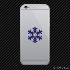 Kentucky Snowflake Cell Phone Sticker Mobile KY snow flake snowboard skiing skii