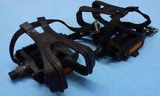 Touring Pedals c.w. toe clips & straps fits UK 4-6 shoe - £8.99 - NEW
