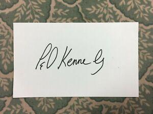 Ted Kennedy -  Former U.S. Senator - Autograph