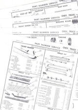 1955 1956 1957 1958 1959 CHEVROLET TRUCK BODY PART NUMBERS LIST CRASH SHEETS! RE