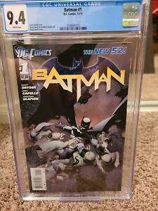 Batman #1 New 52 CGC 9.4 WP Snyder & Capullo