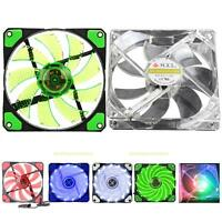 15 LED 12V 120x25mm 3-Pin/4-Pin Light Neon Computer Case Cooling Fan CPU Cooler