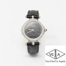 NYJEWEL Van Cleef & Arpels VCA 18k White Gold 3ct Diamond Ladies Womens Watch