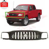 New Front Bumper Radiator Grille Matte Black For 2001-2004 TOYOTA TACOMA 2WD