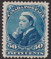 KAPPYSSTAMP ID7098 CANADA  SCOTT 47 FIFTYCENT VICTORIA MINT HINGED VF CENTERING