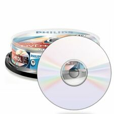 1x10 PHILIPS DVD+R DL 8.5GB 240min 8x Cakebox DR8S8B10F/00 NEU(world*) 006-058