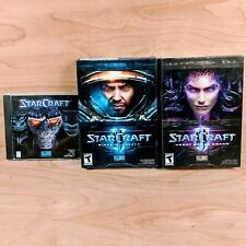 Starcraft 1, Starcraft 2 Wings Of Liberty & Heart of The Swarm Expansion Set PC