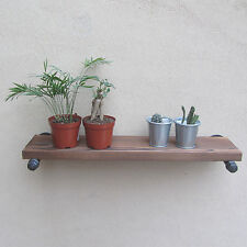 Industrial Retro Urban Rustic Iron Pipe Wall Monted Wood Shelf Shelving Stroage