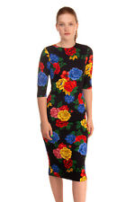 RRP €360 ALICE + OLIVIA Pencil Dress Size 2 Stretch Floral Zipped Back