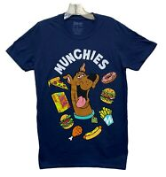 Scooby Doo Men's Scooby Snacks Munchies Licensed T-Shirt Navy Blue New