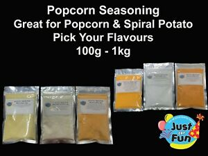 POPCORN SEASONING & SPIRAL POTATO YOU PICK YOUR FLAVOUR 100g - 1kg