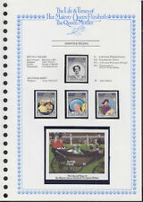 LIFE & TIMES OF QUEEN MOTHER 1985 NORFOLK ISLAND SET/4 + SS c/w ALBUM PAGE