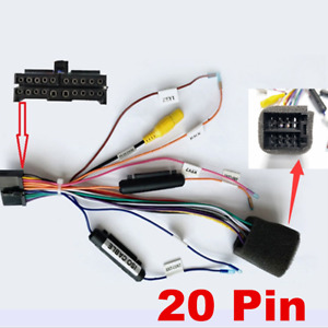Car Stereo Radio ISO Lead Wiring Harness Connector Adaptor Cable Loom 20 Pins