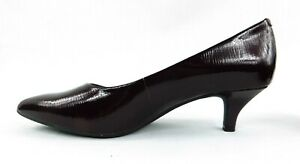 NEW Alex Marie Burgundy Pointed LEATHER Pumps Shoes 6 1/2 Medium Mid Heal 2""
