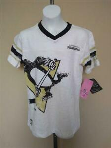 New Minor Flaw Pittsburgh Penguins #29 Fleury Youth Girls Size L 14 Reebok Shirt