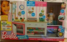 Barbie Ultimate Kitchen Light & Sounds 20 Piece Doll and Accesories Included
