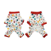 Pet Dog Puppy Jumpsuit Pajamas T-Shirt Clothes Sleepwear Home Clothing Apparel