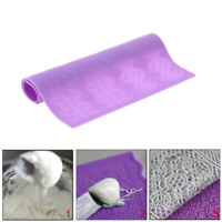 Silicone Lace Mold for Cake Decorating Flower Fondant Embosser Mould Mat Purple