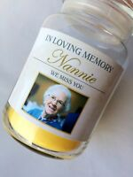 PERSONALISED MEMORIAL CANDLE STICKER LABEL GIFT YANKEE CANDLE (STICKER ONLY)