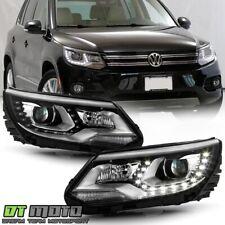 2012-2018 Volkswagen Tiguan Halogen Model Led Bar Projector Headlights Headlamps (Fits: Volkswagen)