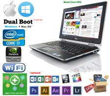 "Dell 14.1"" HD, Intel i7-2670QM upto* 16GB* 1TB NVidia Win 10, Mac OS Hackintosh"