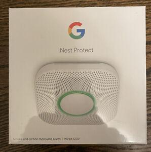 Google Nest Protect Smoke  Carbon Monoxide Alarm  White, Wired Smart Home