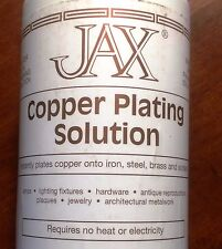 16 oz JAX Copper Plating Solution plates copper onto Iron, Steel Brass & Solder