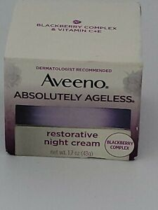 AVEENO Active Absolutely Ageless Restorative Night Cream, Blackberry -1.7oz