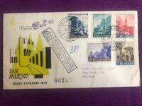 SAN MARINO 1957 FDC Venetia  N°36/SM VEDUTE SERIE PAESEGGI VIAGGIATA