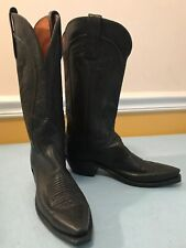 1883 By Lucchese Western Boots N4605 5/4 Women's Black Ranch Leather Size 7B