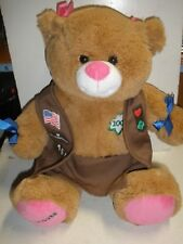 "Build A Bear Workshop Babw Girl Scouts 100 Years 15"" Plush with Outfit uniform"